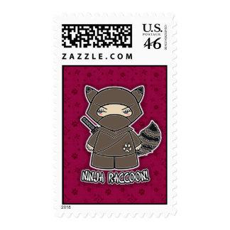 Ninja Raccoon! Postage Stamp