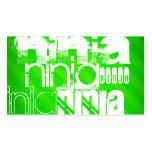 Ninja; Rayas verdes de neón Tarjetas De Visita