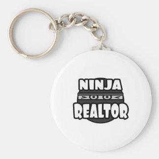 Ninja Realtor Basic Round Button Keychain