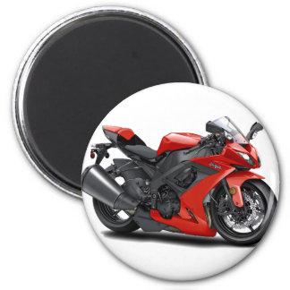Ninja Red Bike 2 Inch Round Magnet