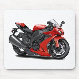 Ninja Red Bike Mouse Pad
