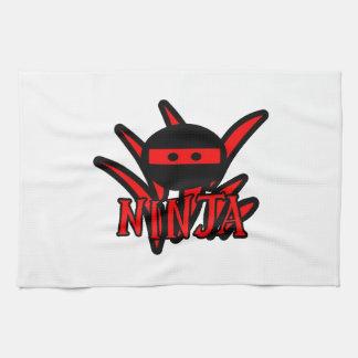 Ninja rojo toallas