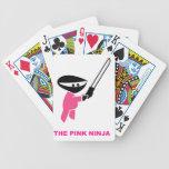Ninja rosado con la espada baraja de cartas
