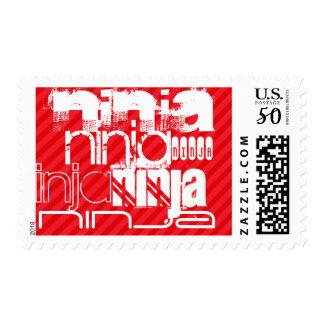 Ninja; Scarlet Red Stripes Postage