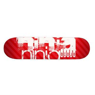 Ninja; Scarlet Red Stripes Skate Deck