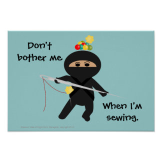 Ninja Sew Poster