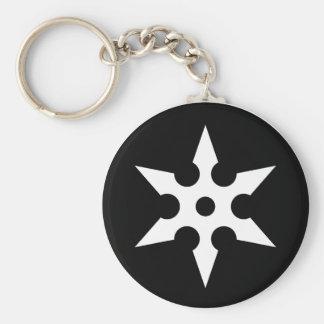 Ninja Shuriken Ideology Basic Round Button Keychain