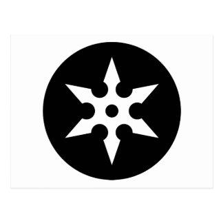 Ninja Shuriken Ideology Postcard