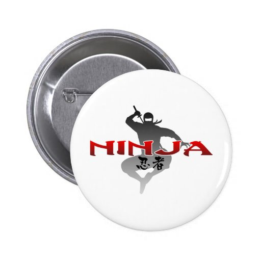 Ninja Silhouette 2 Inch Round Button