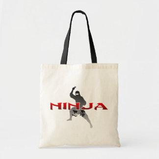 Ninja Silhouette Canvas Bags