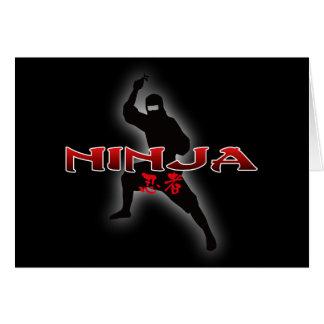 Ninja Silhouette Card