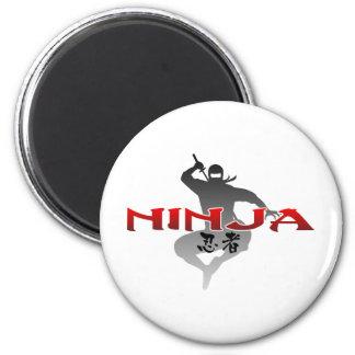 Ninja Silhouette Magnet
