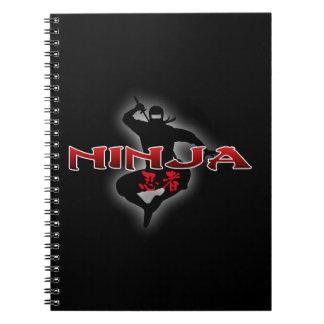 Ninja Silhouette Notebook