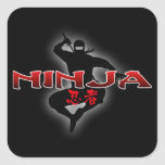 Ninja Silhouette Square Sticker