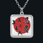 "Ninja Silver Plated Necklace<br><div class=""desc"">Ninja</div>"