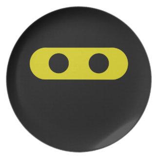 Ninja Smiley Dinner Plate