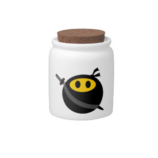 Ninja smiley face candy jars