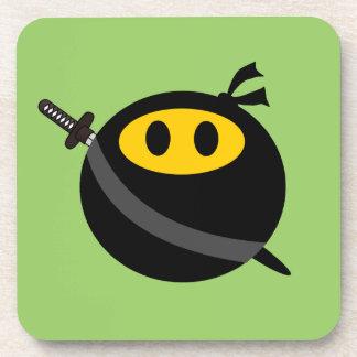 Ninja smiley face coaster
