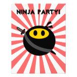 Ninja smiley face invite
