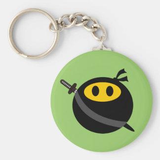 Ninja smiley face keychain