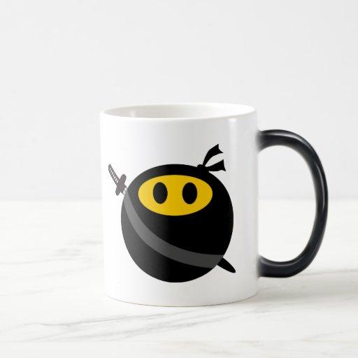 Ninja smiley face magic mug | Zazzle