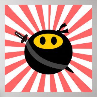 Ninja smiley face print