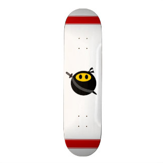 Ninja smiley face skateboard deck