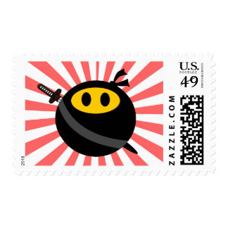 Ninja smiley face stamp