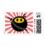 Ninja smiley face stamps