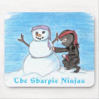 Ninja Snowman Mousepad