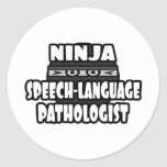 Ninja Speech-Language Pathologist Round Stickers