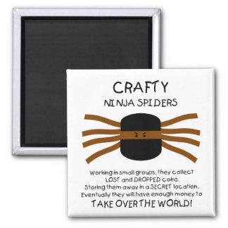 Ninja Spiders! Magnet