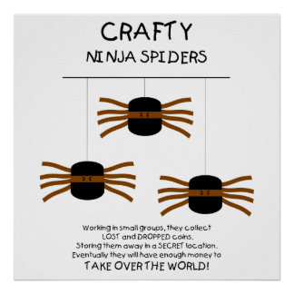 Ninja Spiders! Poster