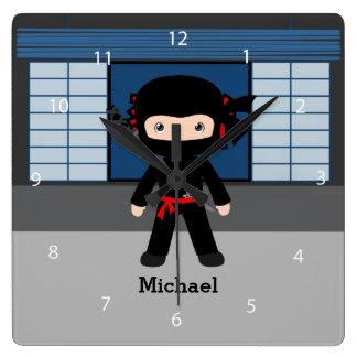 Ninja Square Wall Clock