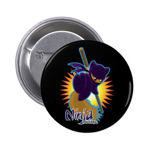 Ninja Squirrel 2 Inch Round Button