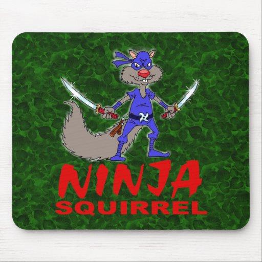 Ninja Squirrel Mouse Pad