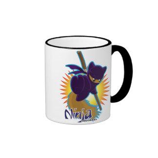 Ninja Squirrel Ringer Mug
