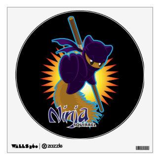 Ninja Squirrel Wall Sticker