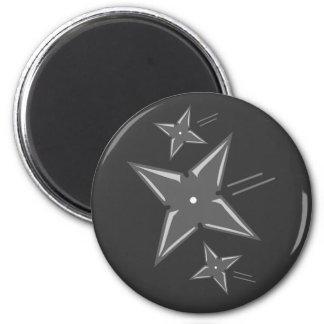 Ninja Stars 2 Inch Round Magnet
