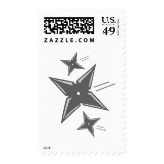 Ninja Stars Postage Stamp