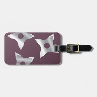 Ninja Stars Weapon vector Tag For Luggage