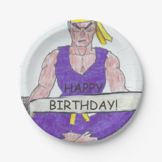 "Ninja Style Birthday Paper Plates 7"""