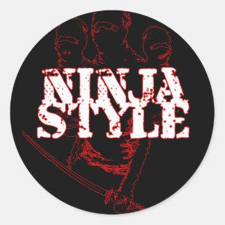 NINJA STYLE : CLASSIC ROUND STICKER