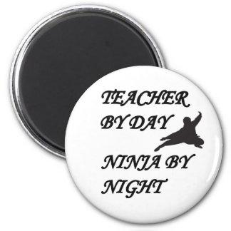 NINJA TEACHER 2 INCH ROUND MAGNET