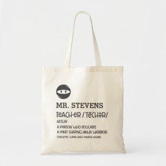 Ninja Teacher Definition Tote Bag