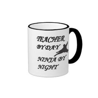 NINJA TEACHER RINGER COFFEE MUG