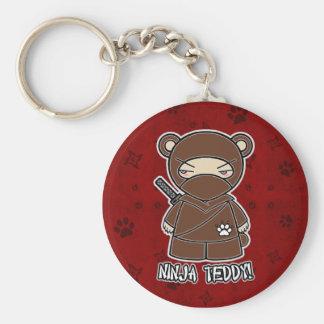 Ninja Teddy! In Red Keychain
