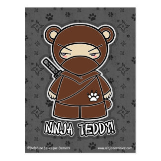 Ninja Teddy! Postcard