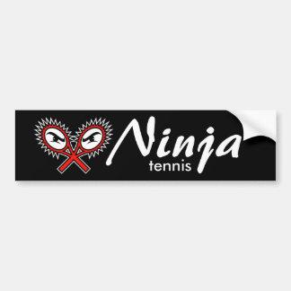 ninja tennis bumper sticker car bumper sticker
