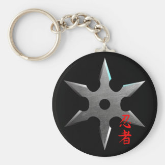 Ninja Throwing Star Keychain